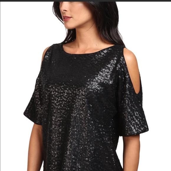 80f29e4bf60ff Splendid sequin cold shoulder top